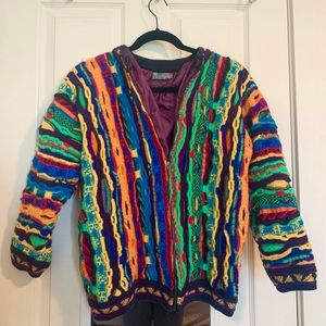 COOGI size S jacket with purple inner lining